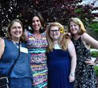 Event Co-Chairs Rachel Harad and Lisa Driban with Garden Champions Marci Aerenson and Regina Kerr Alonzo